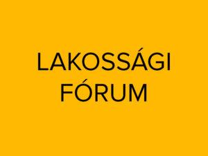 Lakossági fórum